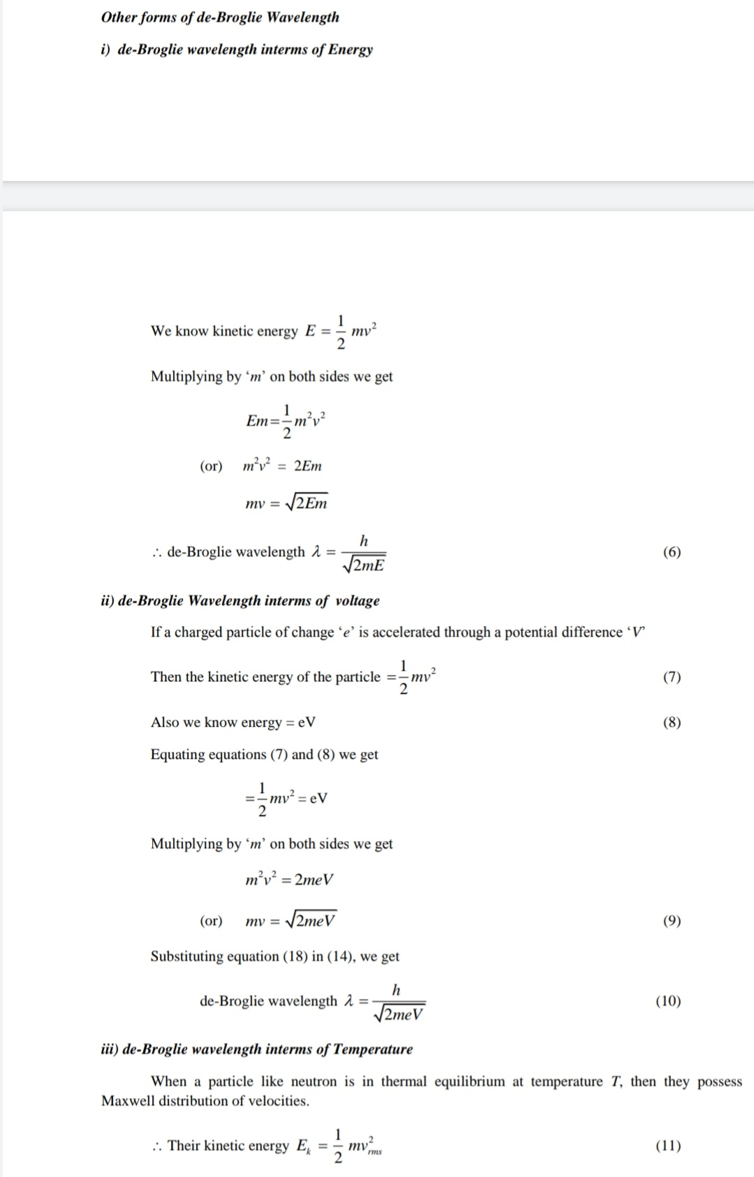 Different forms of De - Broglie  wavelength-IMG_20191022_161938.jpg
